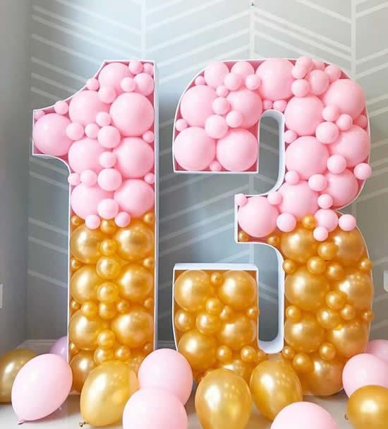 Decoração maravilhosa com balões