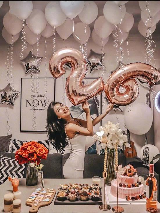 Decoração linda com balões