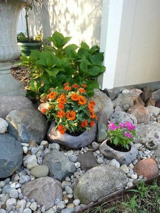 Decoração com pedras para o seu jardim