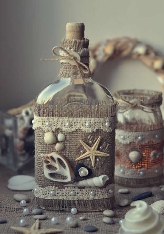 Garrafas decoradas lindas