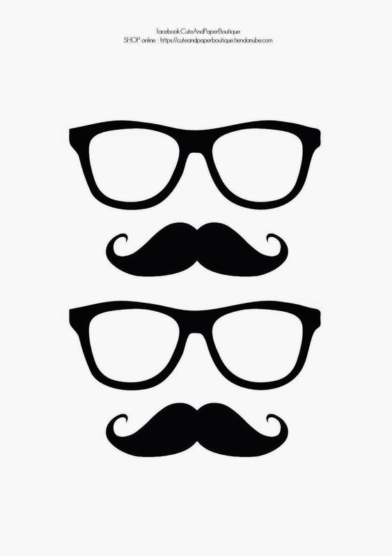 Molde de bigode para dias dos pais