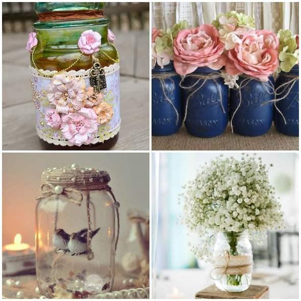 15 ideias para decorar potes de vidro
