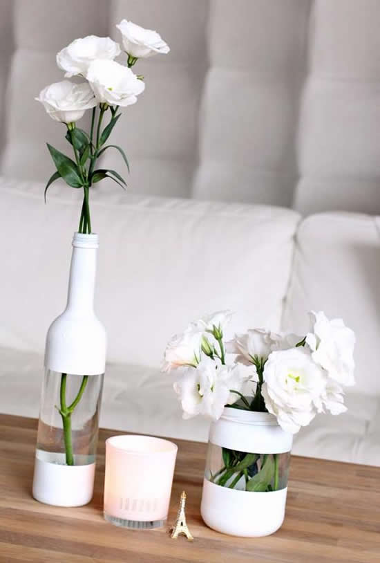 Lindos Vasos com Garrafas