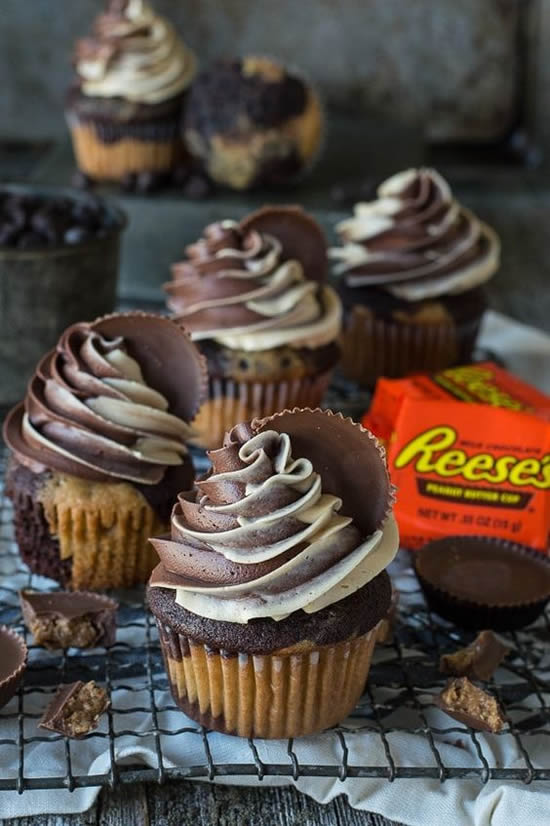 Cupcakes lindos de chocolate