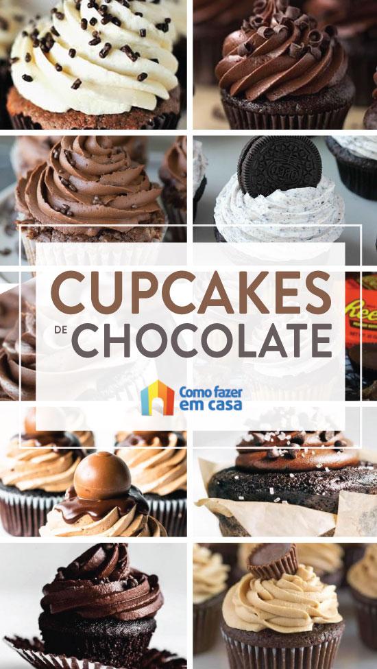 Lindos cupcakes de chocolate