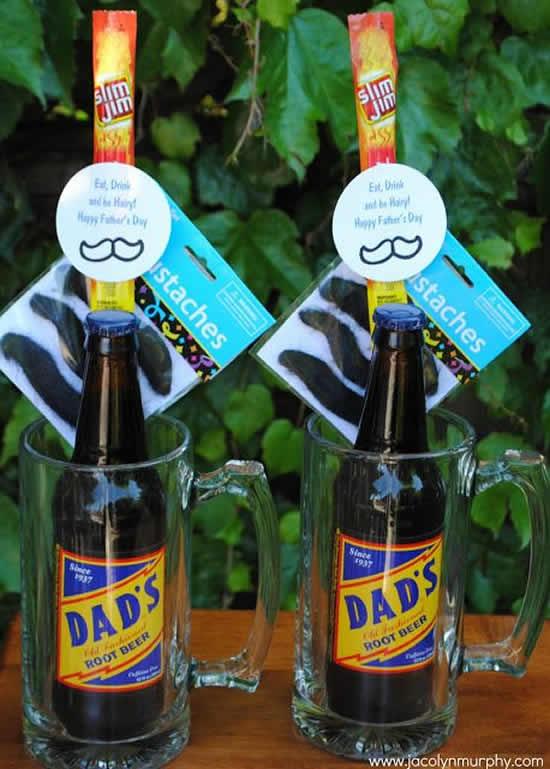 Decoração com garrafas para Dia dos Pais
