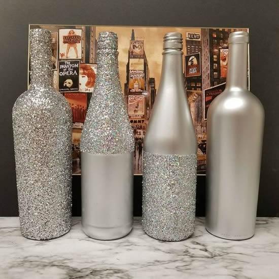 Enfeite com garrafa para Natal
