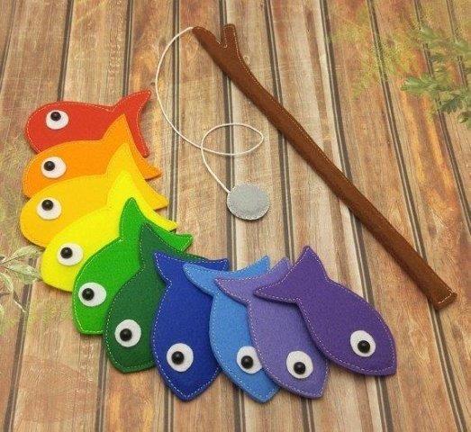jogo de pescaria de feltro
