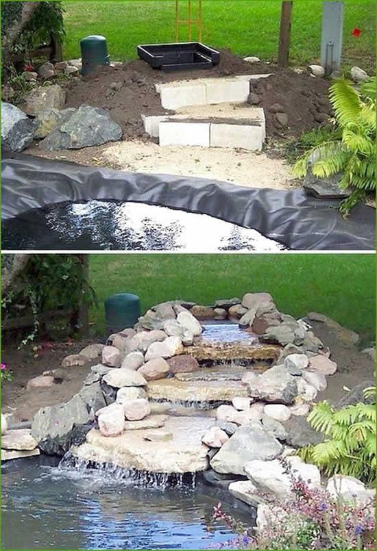 Como fazer lago de jardim