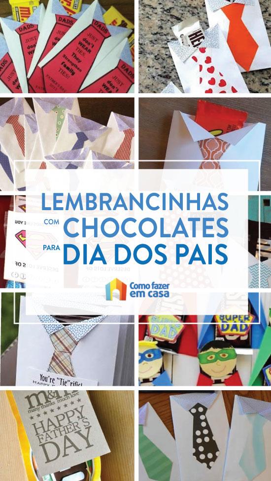 Lembrancinhas com chocolates para Dia dos Pais