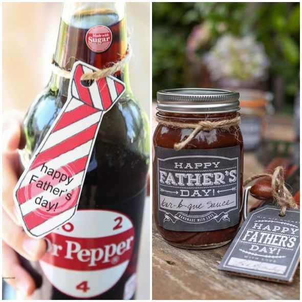 Lembrancinhas com etiquetas para Dia dos Pais