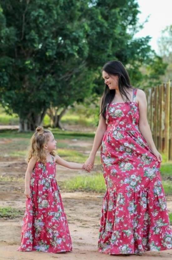 Que coisa linda! Vestidos para mãe e filha