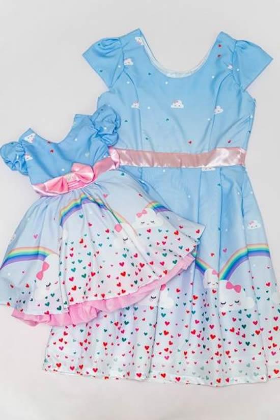 Vestido para mãe e filha