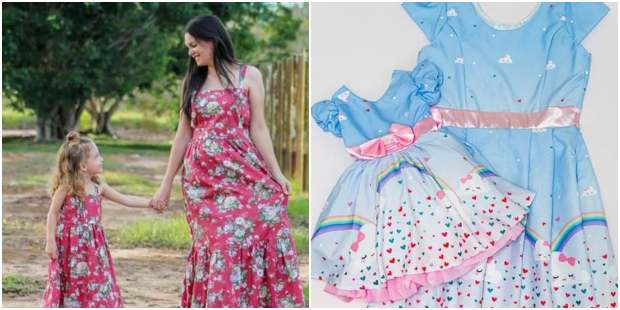 10 opções lindas de vestidos para mãe e filha