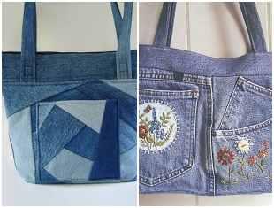 Ideias para fazer bolsas com calça jeans