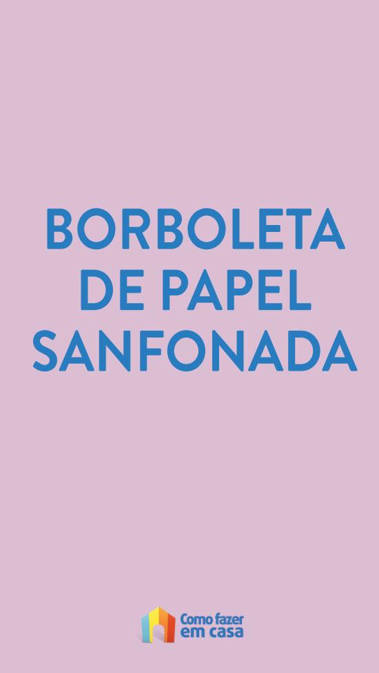 Borboleta de papel sanfonada