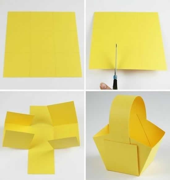 Cestinha de papel para lembrancinha fácil de fazer