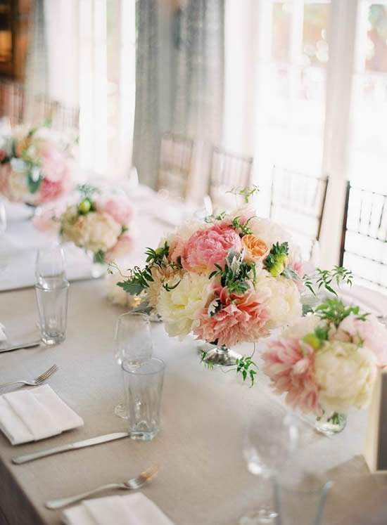 Lindos arranjos de flores para casamentos