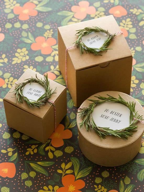 Caixinhas para embalagem de presente ou lembrancinha de Natal
