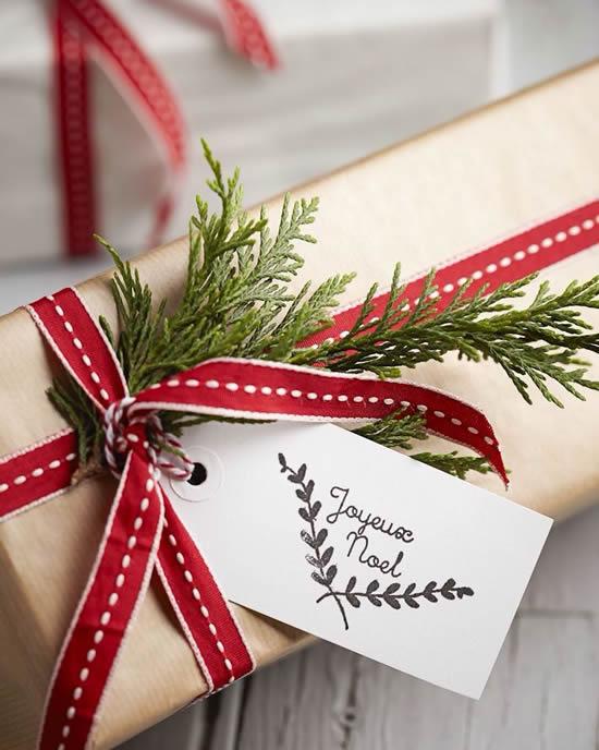 Linda embalagem para presente de Natal