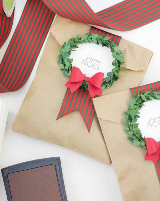 Embrulhos lindos para presente de Natal
