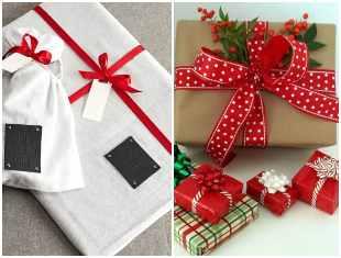 Embrulhos de Natal para presentes