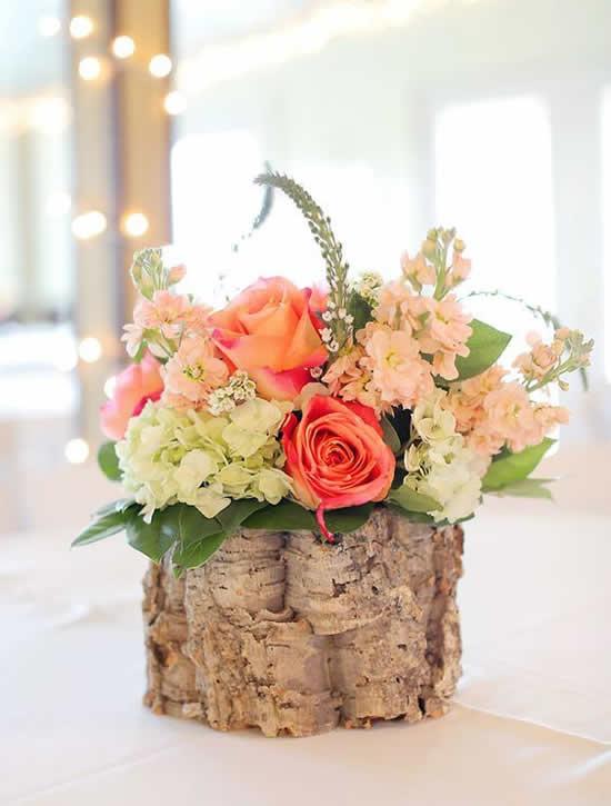Vaso rústico para decoração