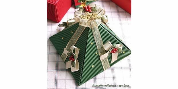 Linda caixinha de Natal com molde