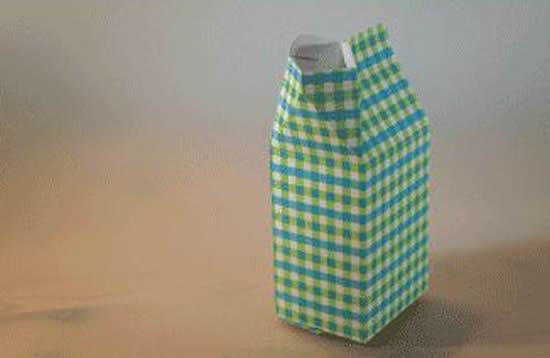 Caixinha de leite com moldes