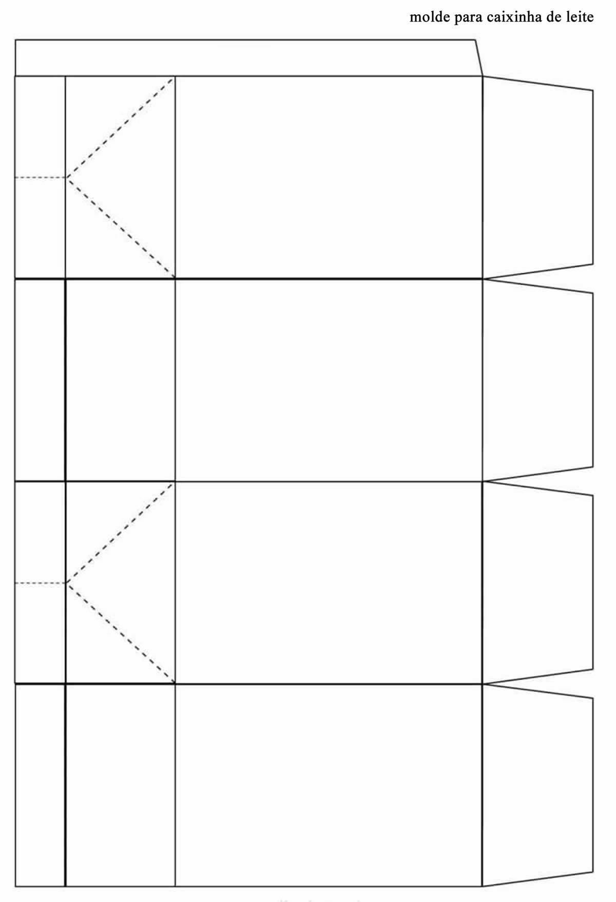 Molde para caixinha de leite de papel