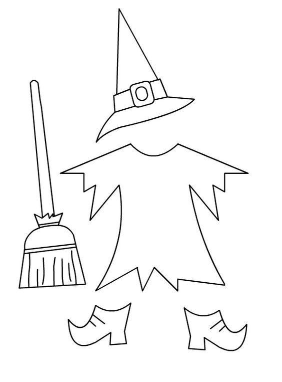 Moldes de chapéu de Bruxa