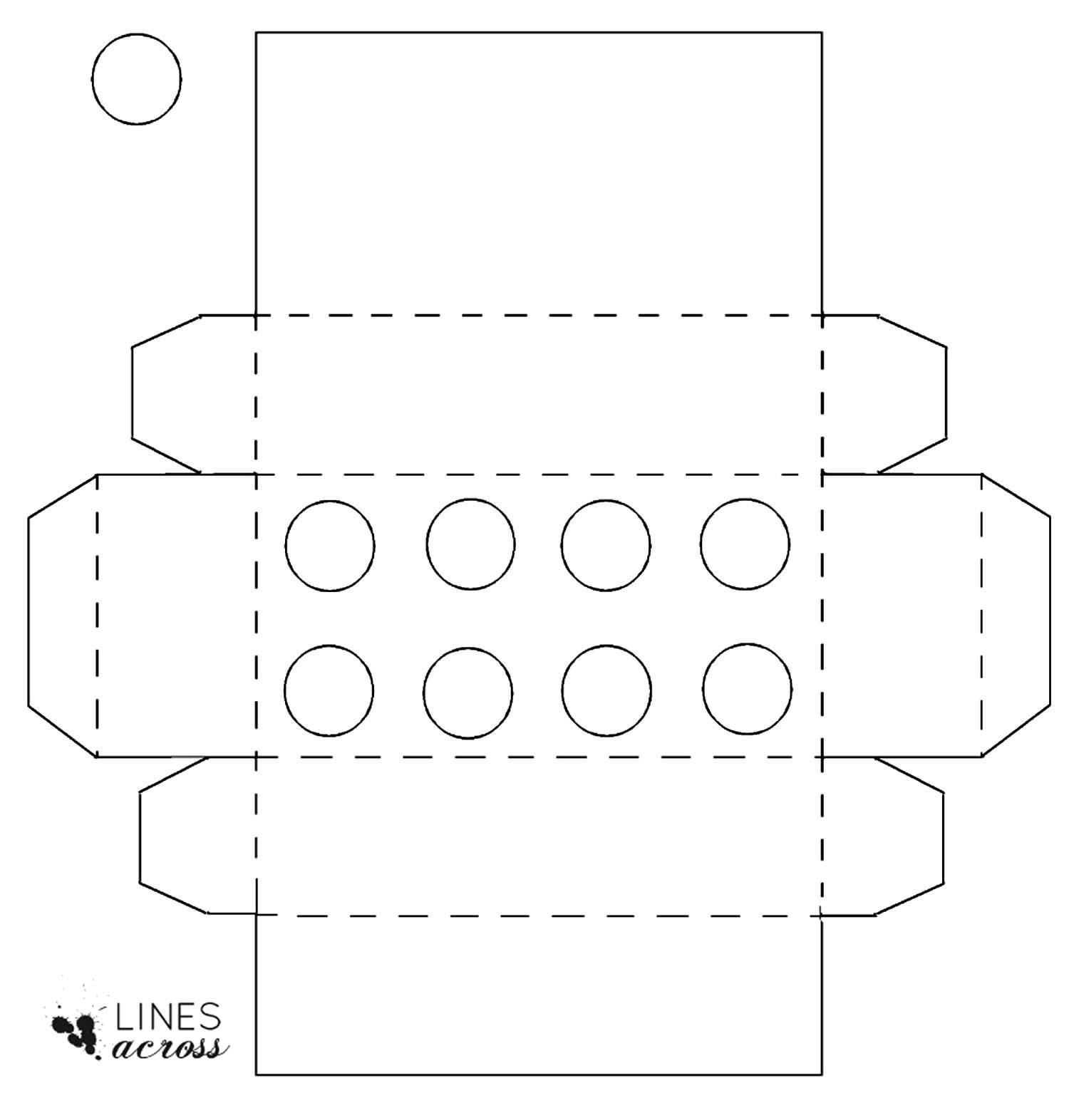 Moldes para criar caixinha para Festa Lego