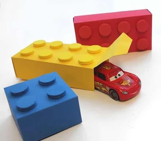 Caixinha linda para Festa Lego com moldes