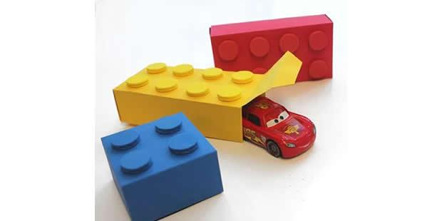 Caixinha para Festa Lego com molde