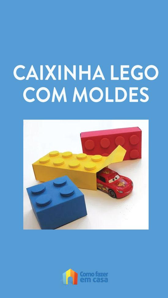Moldes para fazer caixinha Lego