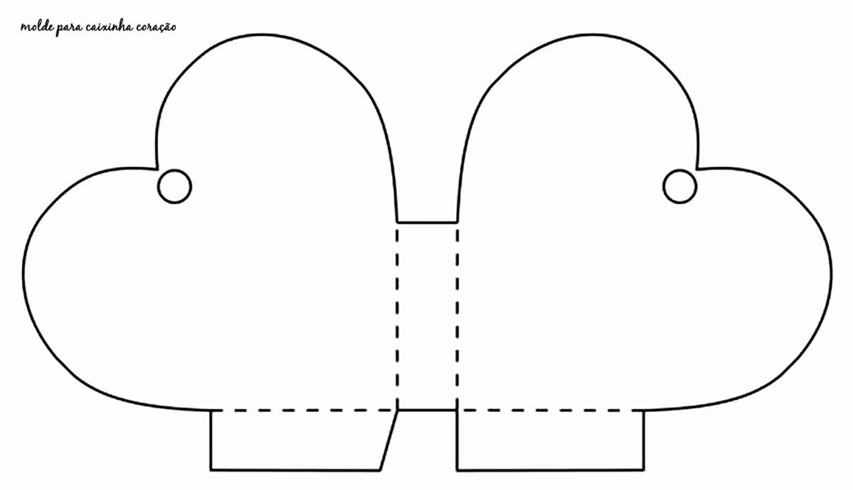 Molde de lembrancinha com coração de papel