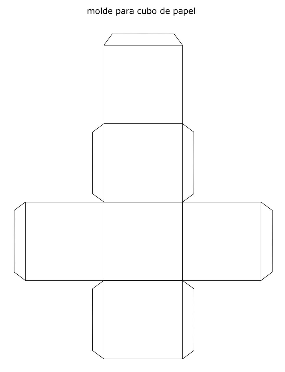 Molde para cubo de papel