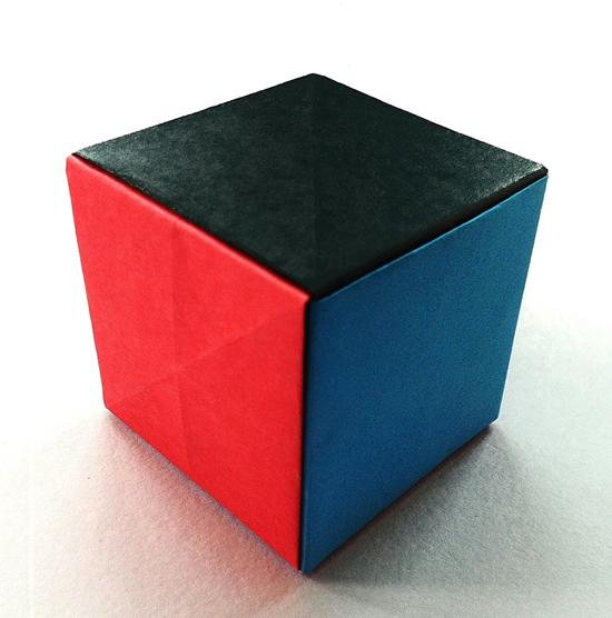 Atividade com cubos de papel