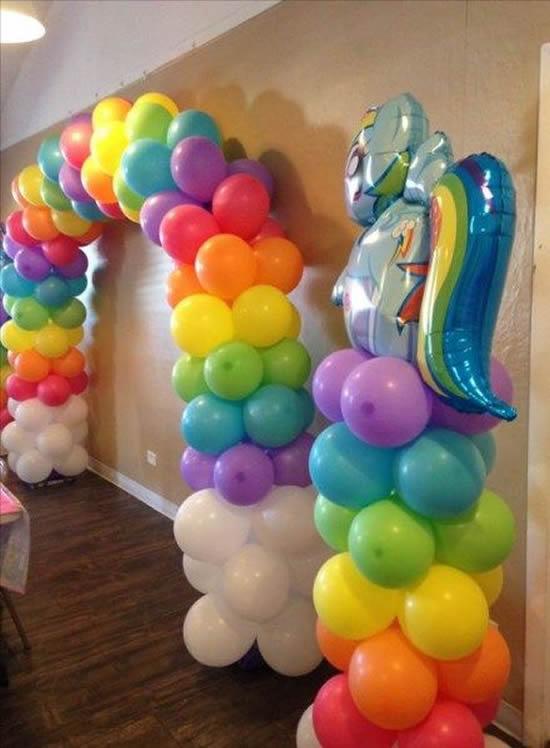Enfeites com balões para Dia das Crianças