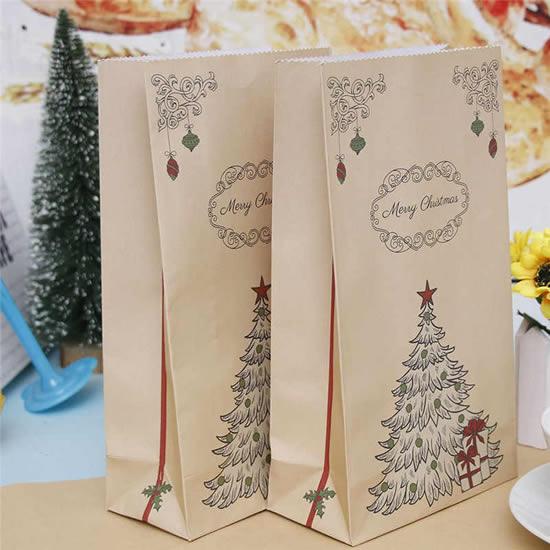 Embalagem criativa com papel para presente de Natal