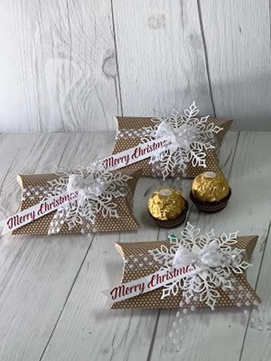 Embrulho de Natal para presente