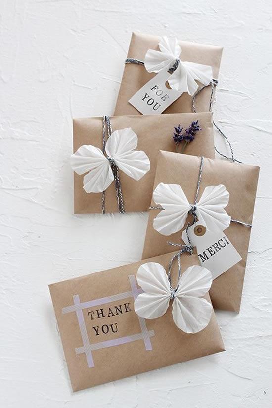 Dicas para embalar presentes de forma criativa