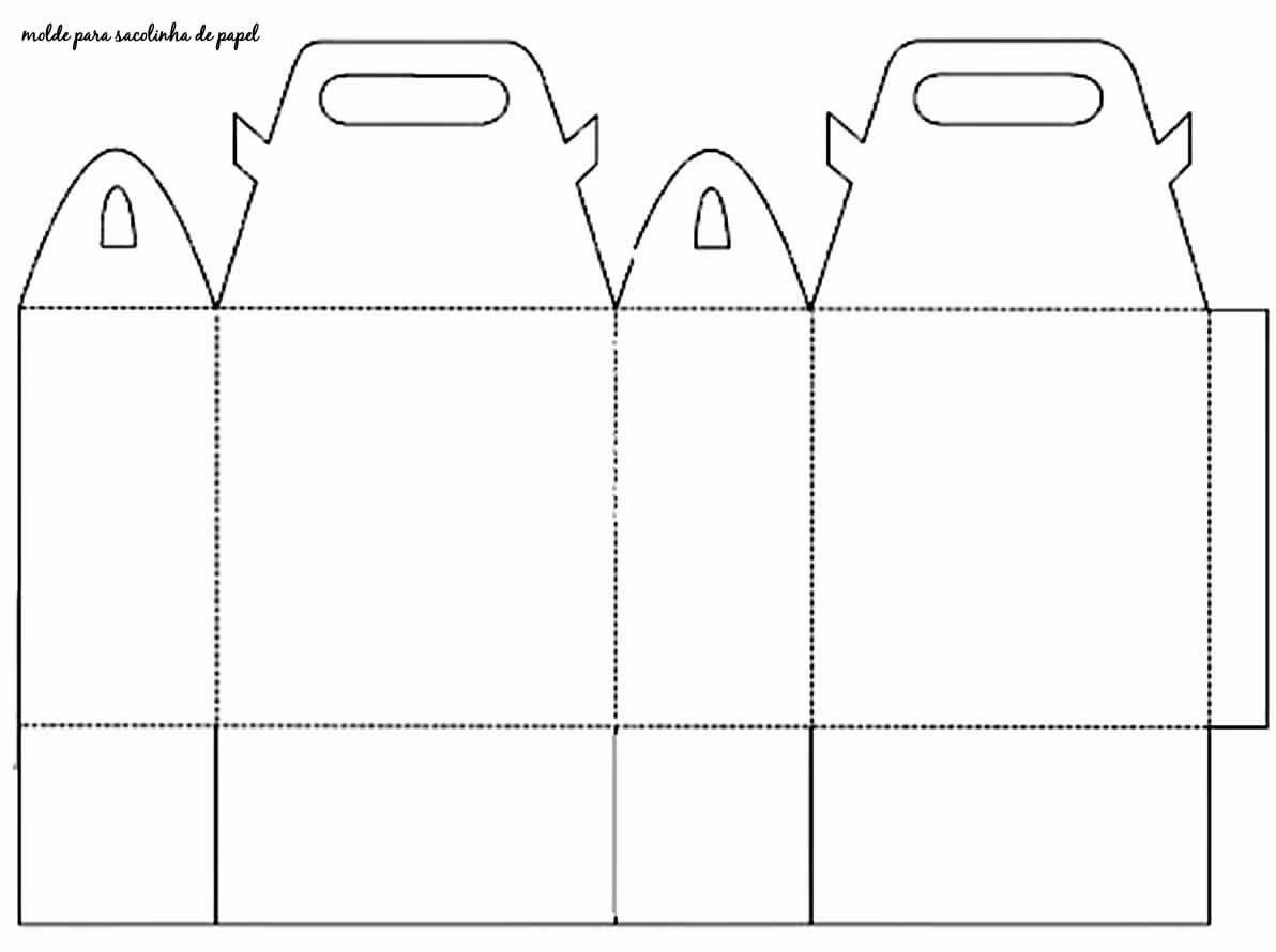 Molde para sacolinha linda em papel