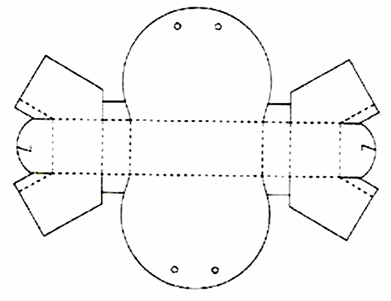 Molde para fazer sacolinha de papel