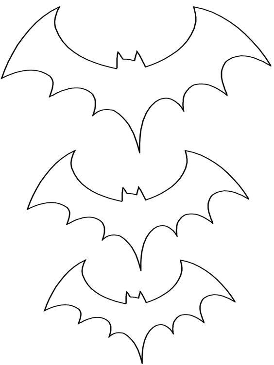 moldes de morcego para Halloween