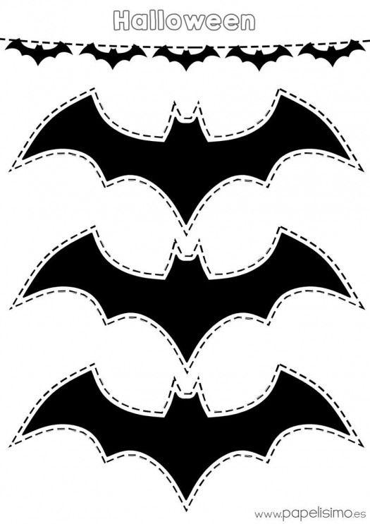 20 Moldes De Morcego Para Halloween Como Fazer Em Casa