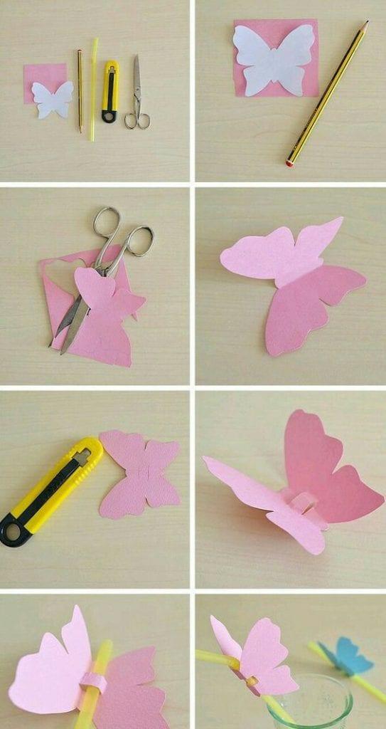Lembrancinha de borboleta para dia das crianças