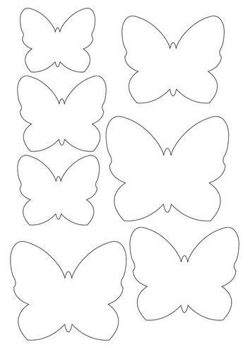molde de borboleta para artesanato