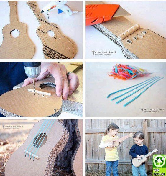 Violãoa de papelão para o Dia das Crianças (9)