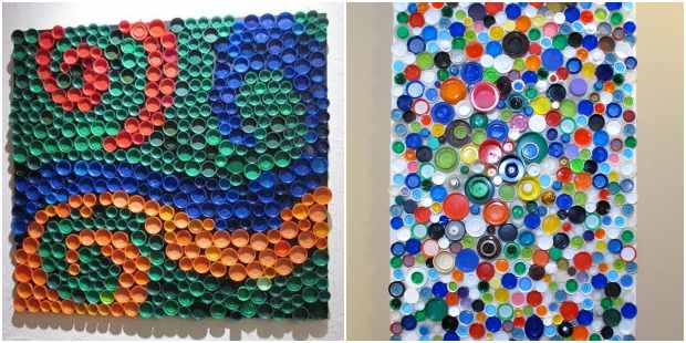 10 ideias lindas para fazer arte com tampinhas